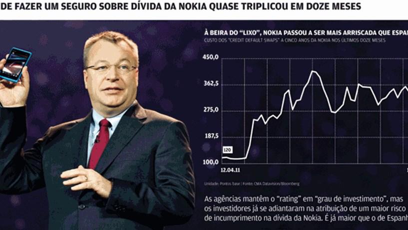 """Investidores dão """"rating"""" de """"lixo"""" à Nokia"""