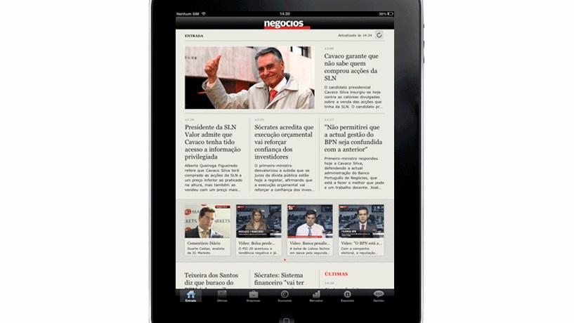 Negócios lança edição iPad