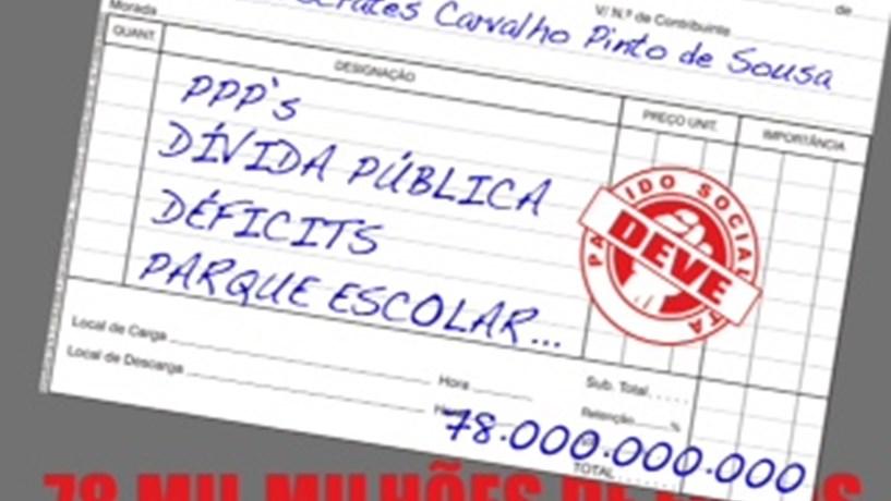 JSD passa factura de 78 mil milhões de euros a José Sócrates
