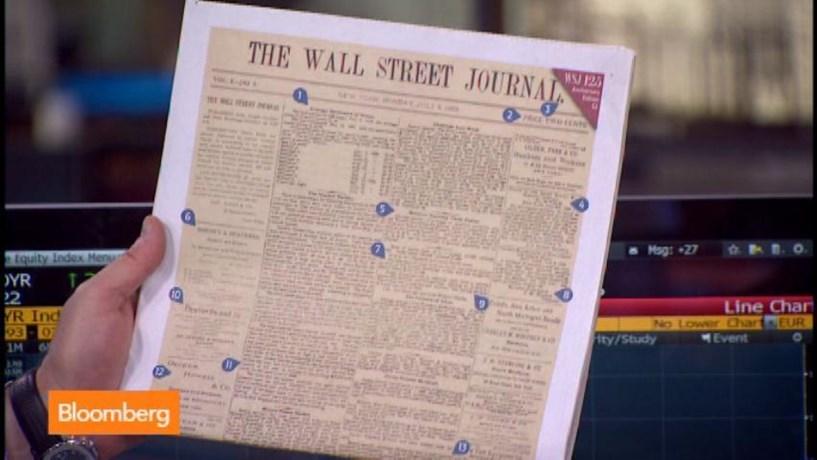 Wall Street Journal em papel vai deixar de ser vendido na Europa