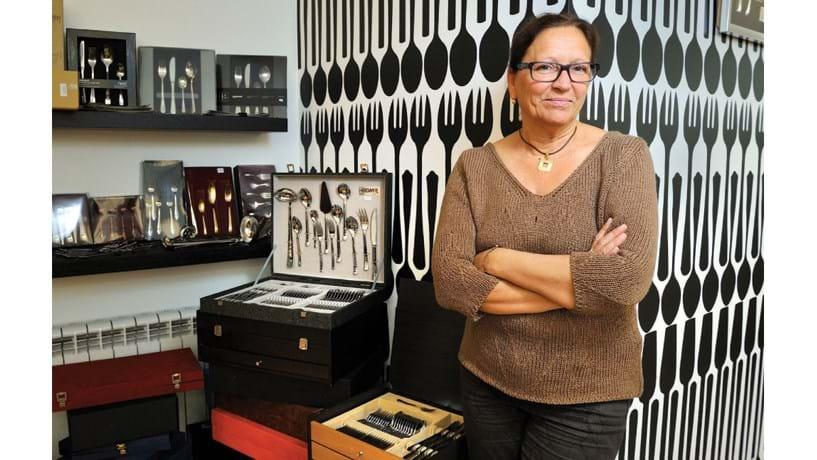Maria José Marques, administradora da Herdmar, exporta talheres portugueses para 65 países.