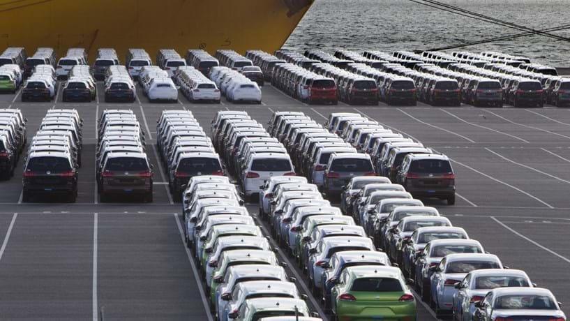 Venda de carros na Europa abrandou em Fevereiro