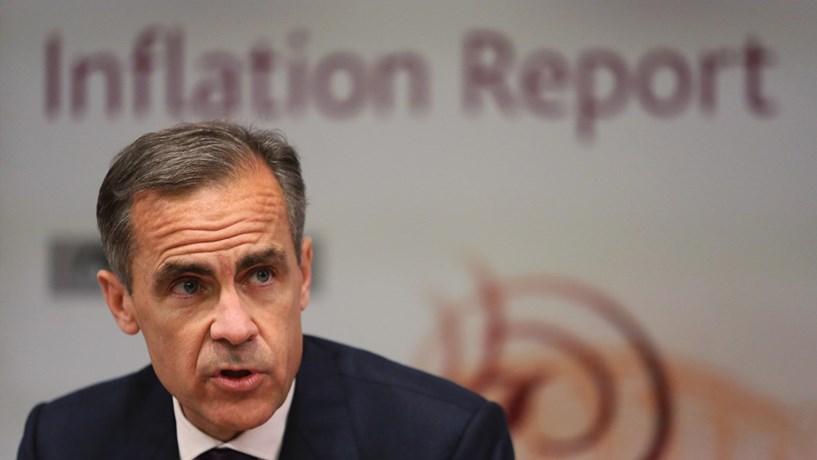 Banco de Inglaterra corta ligeiramente previsões de crescimento da economia