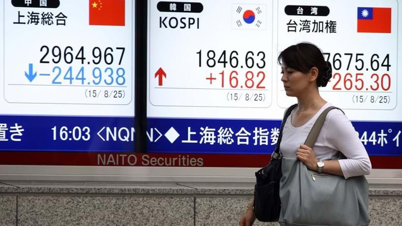 """Bolsas japonesas caem mais de 3% e entram em """"mercado urso"""""""