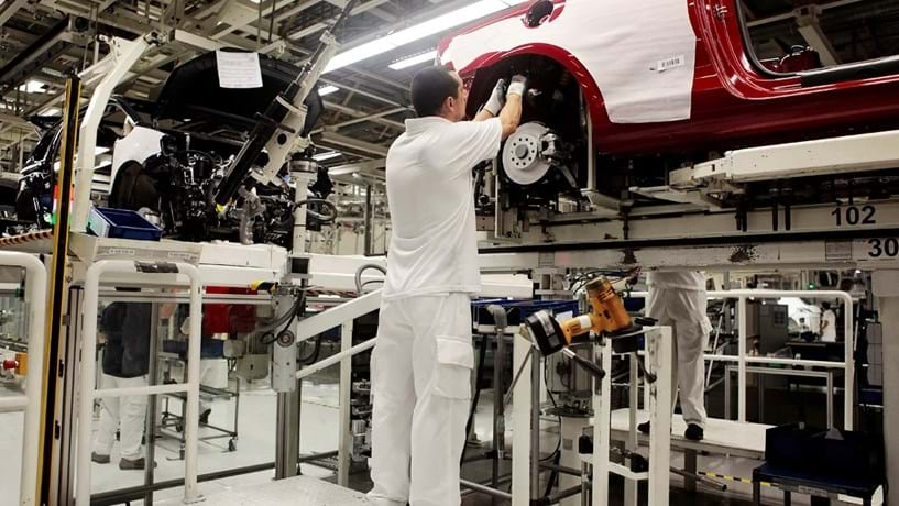 Produção automóvel aumenta 50% em Janeiro