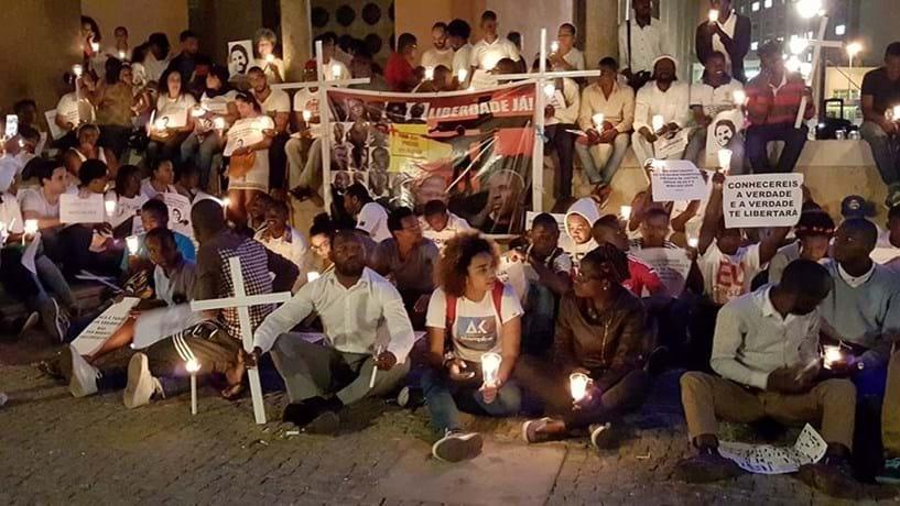 Durante a sua greve da fome, Luaty foi alvo de manifestações de apoio em Portugal.