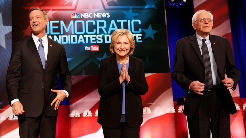 Clinton e Sanders em conflito sobre armas, saúde e Irão