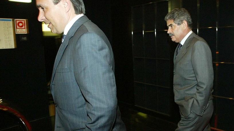 José Veiga com Luís Filipe Vieira, presidente do Benfica.