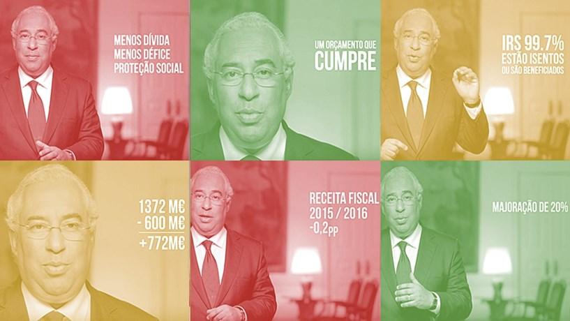 O verdadeiro e falso nos vídeos de António Costa