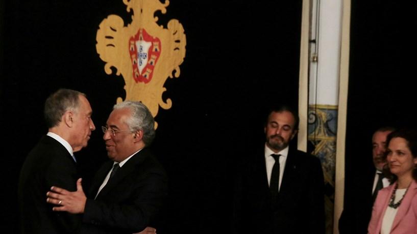 António Costa felicita Presidente da República pelo primeiro ano de mandato