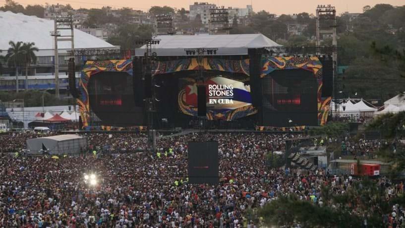 """Stones em concerto histórico acreditam que os """"tempos"""" em Cuba são de mudança"""