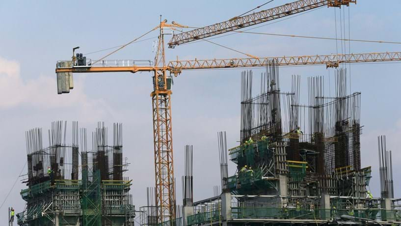 Construção com a menor queda num ano
