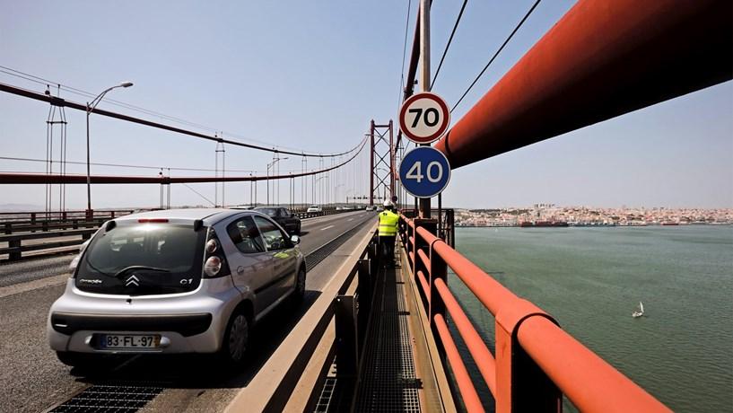 Portagens na Vasco da Gama e 25 de Abril aumentam entre 5 e 15 cêntimos