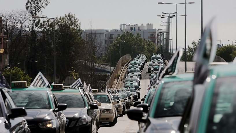 Mapa: Seis mil táxis em direcção a Lisboa. Conheça 17 pontos de passagem