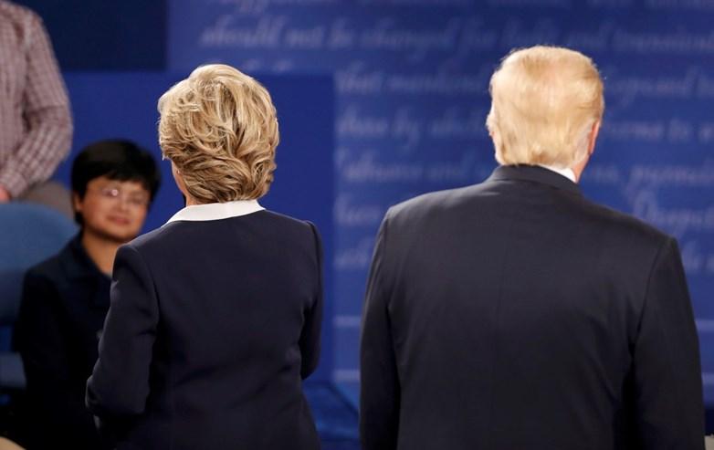 O segundo debate entre Trump e Clinton em imagens