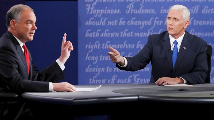 Candidatos a vice-presidentes dos EUA trocam acusações sobre Trump e Clinton em debate