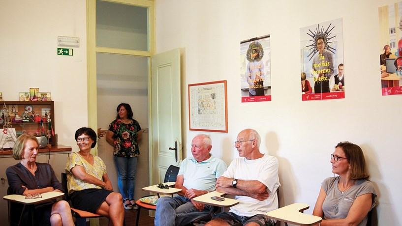 As aulas de português, na Alliance Française de Setúbal, nunca tiveram tantos alunos. Há 10 franceses a receber lições e está a ser preparada outra turma.