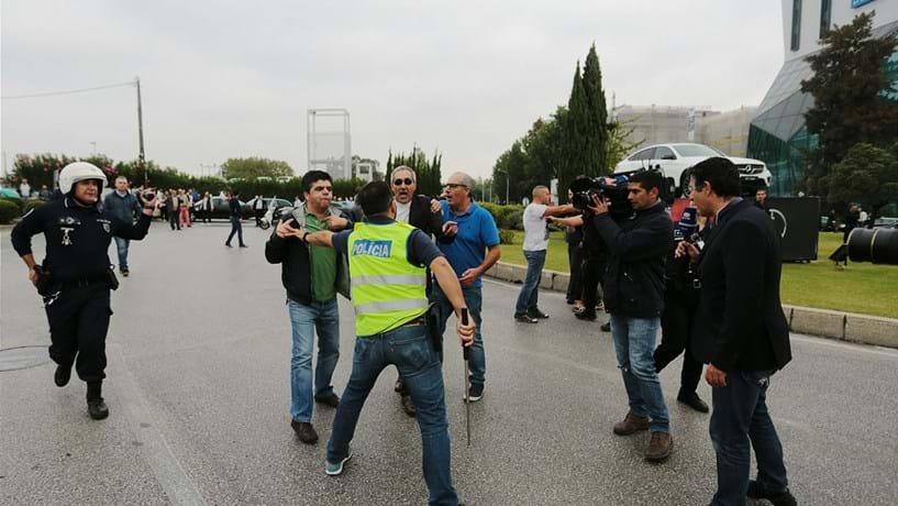 PSP confirma três detidos na manifestação dos taxistas