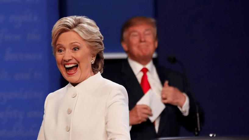 Sondagens nos EUA: Hillary quase sempre na frente da corrida