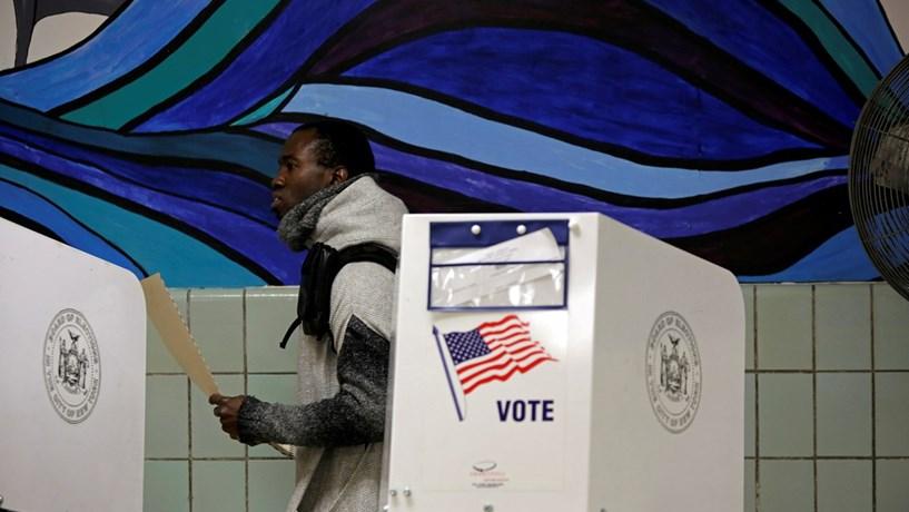 O dia das eleições em imagens