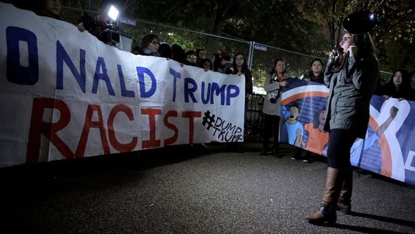Protestos contra vitória de Trump