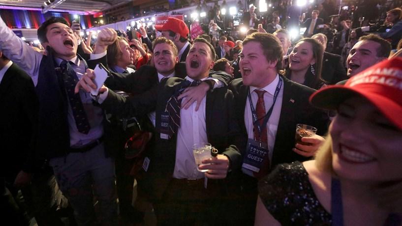 Da euforia à desilusão, os rostos da noite eleitoral nos EUA