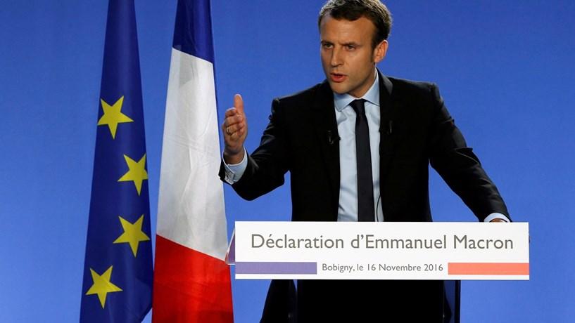 Macron é oficialmente candidato às eleições presidenciais de França