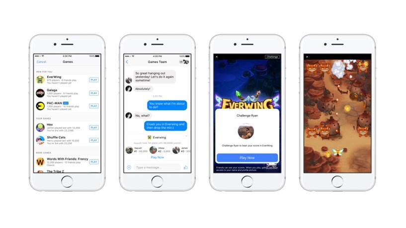 Facebook quer pôr utilizadores a jogar no Messenger