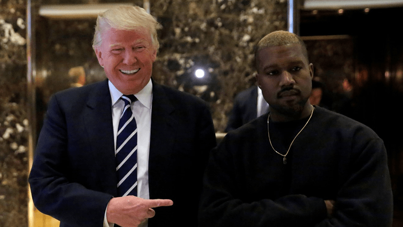 """Trump e Kanye West juntos: """"Somos amigos, apenas amigos"""""""
