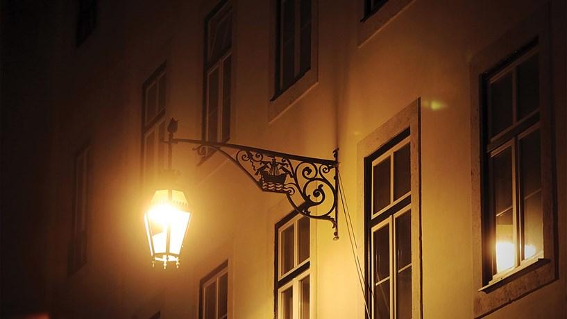 Luzes na cidade nocturna
