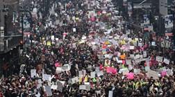 Manifestações anti-Trump e ataques aos media
