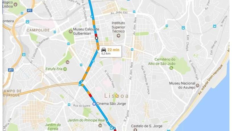 Trânsito condicionado em várias artérias de Lisboa na segunda e na terça-feira