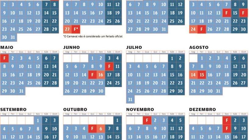Calendario 2020 Portugal Com Feriados.Veja Os Feriados E As Pontes Que Pode Fazer Em 2017