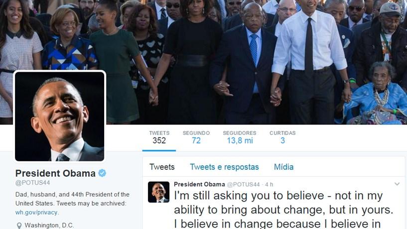 Obama deixa de ser presidente também no Twitter