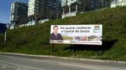 Candidato à câmara de Torres Vedras traz cartazes para Lisboa