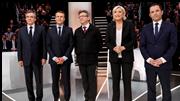 Macron à frente de Le Pen e Hamon ultrapassado por Mélenchon