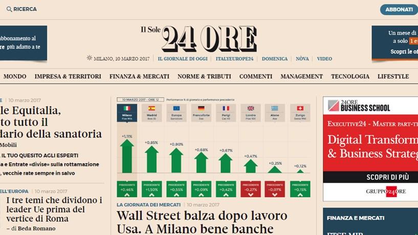 Itália: Director de jornal económico investigado