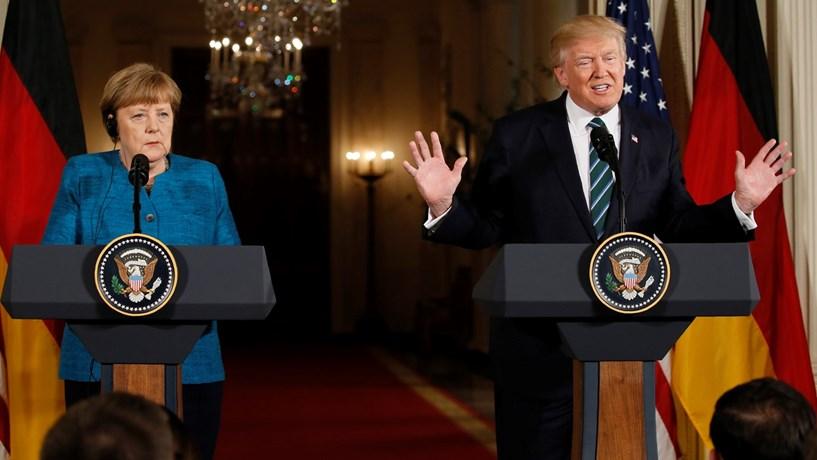 "Trump responde a Merkel: ""Isto vai mudar"""