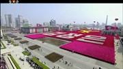 O desfile militar em Pyongyang para celebrar o