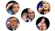 Os candidatos a presidente de França