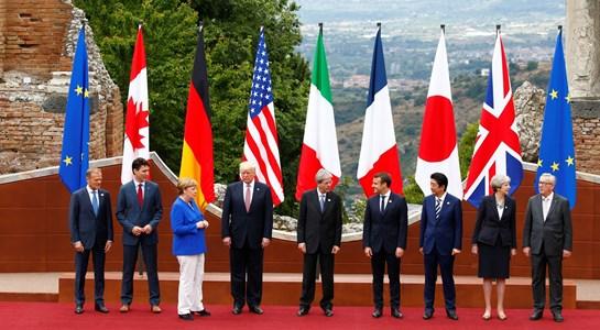 G7 pede menos proteccionismo mas divide-se no clima