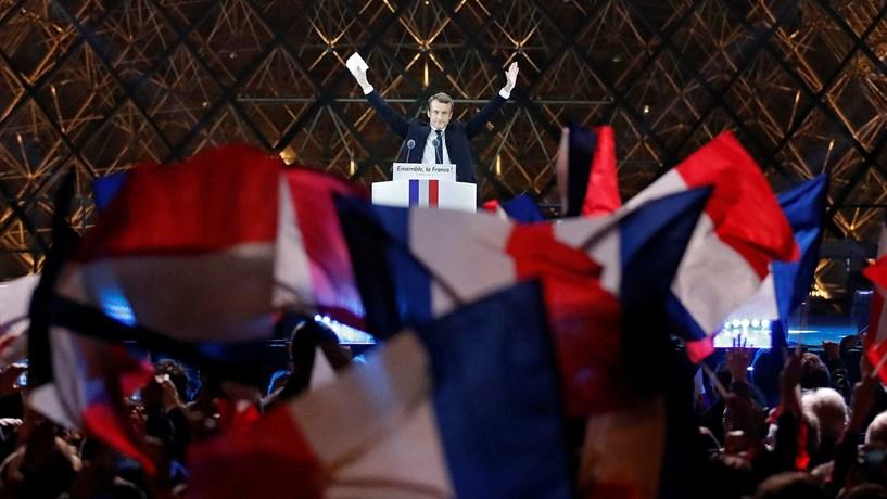 Bolsas europeias com maior subida em dois meses apoiadas pelo efeito Macron