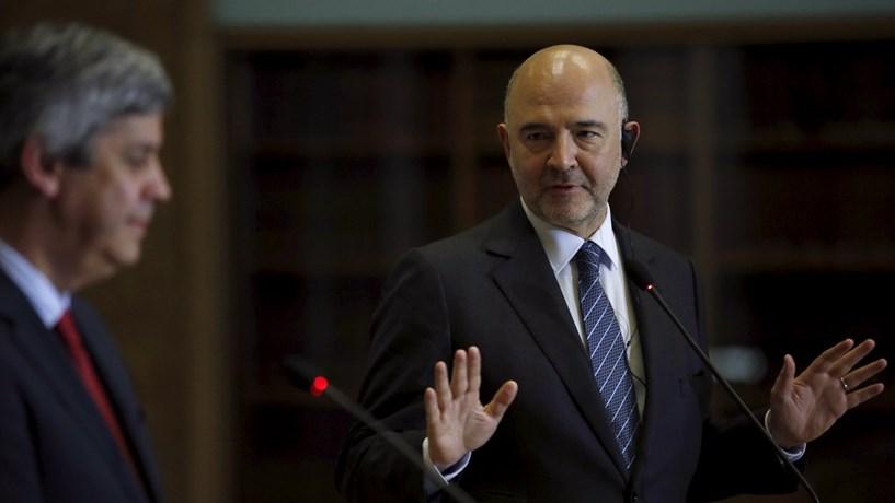 """Moscovici sobre Portugal: """"Estamos satisfeitos"""" com o défice"""
