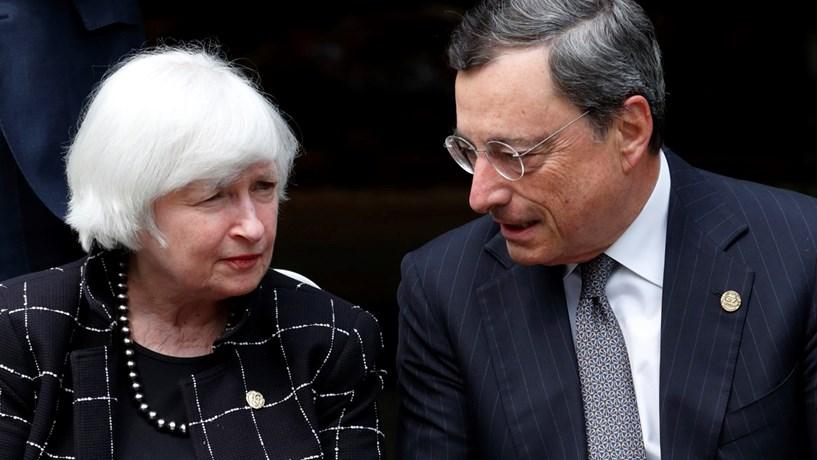 Abertura dos mercados: Yellen deixa bolsas no vermelho e Draghi põe euro em máximos