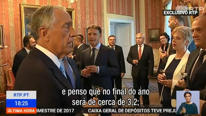 """Marcelo diz que """"é uma hipótese"""" Portugal crescer 3,2% este ano"""