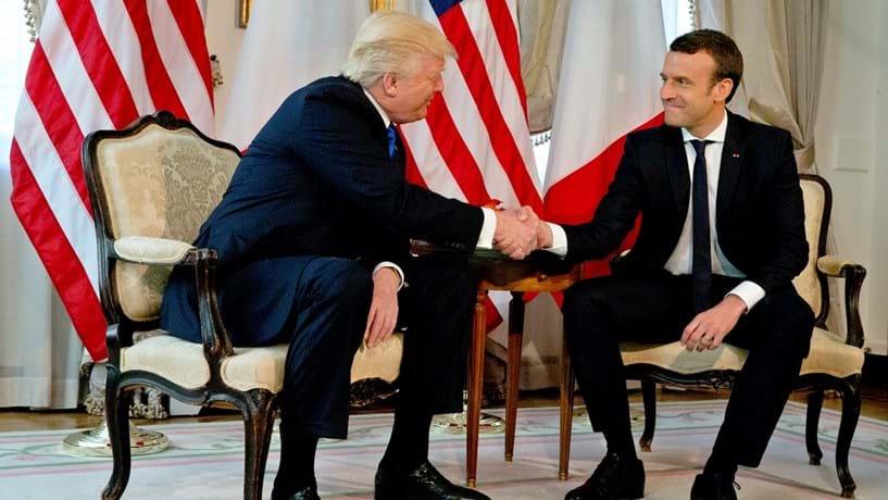"Trump enaltece a ""formidável vitória"" de Macron"