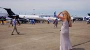 Os aviões fazem virar cabeças no Paris Air Show