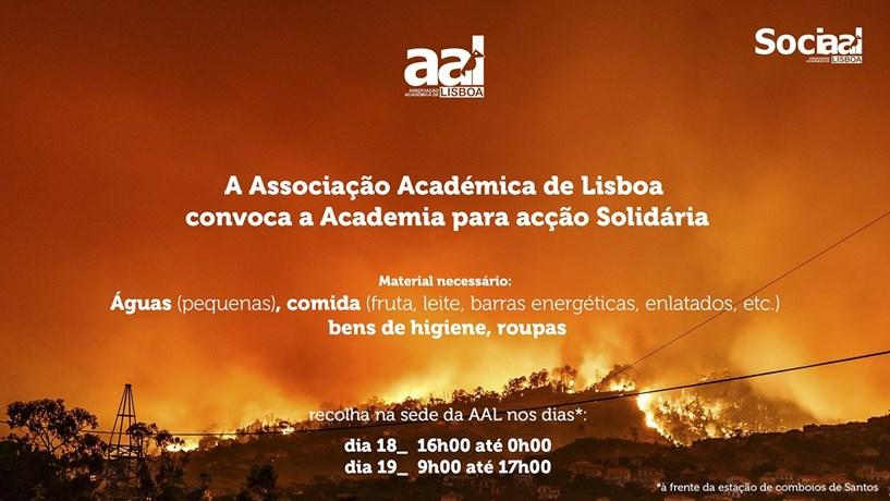 Associação Académica de Lisboa convoca toda a academia para acção solidária
