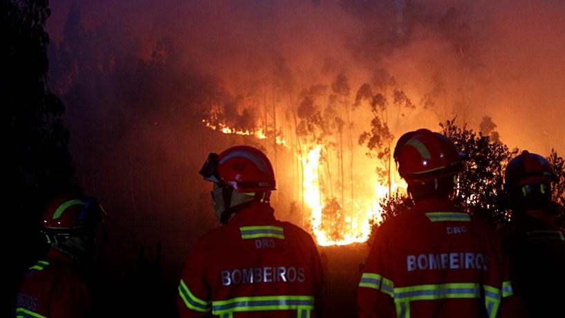 Mais de 2.100 bombeiros combatem fogos em Leiria, Coimbra e Castelo Branco