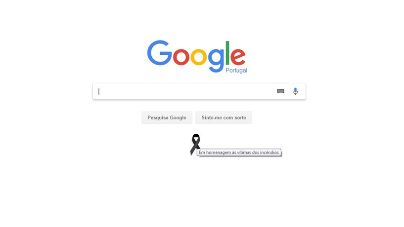 Google homenageia vítimas dos incêndios em Portugal